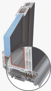 Aluminiumschwelle mit Wärmesperre