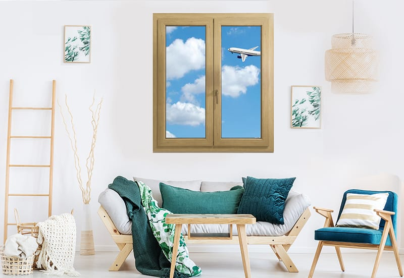 Noise insulation of PVC windows and doors