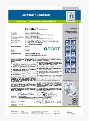 Zertifikat GLAS