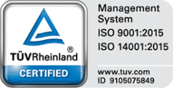 Zertifizierungen ISO TUV Rheinland