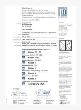Zertifikate ITT 4stars mit 2 flugeln